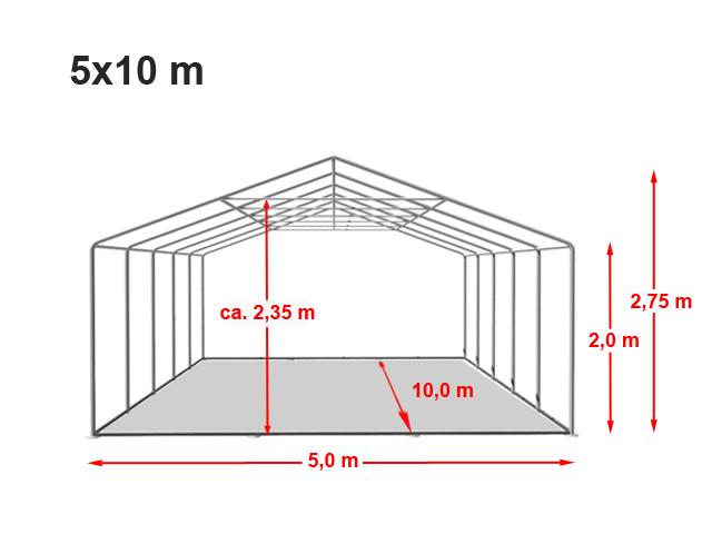 Párty stan Prémium 5x10m